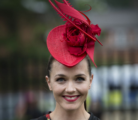 It wouldn't be a hat party without a fascinator. Olympic champion Victoria Pendleton brought her A-game. (AP)