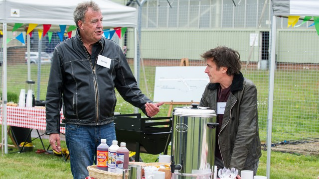 Jeremy Clarkson and Richard Hammond at the tea party