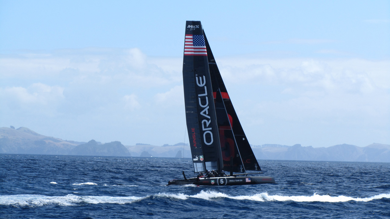 The Oracle yacht in New Zealand