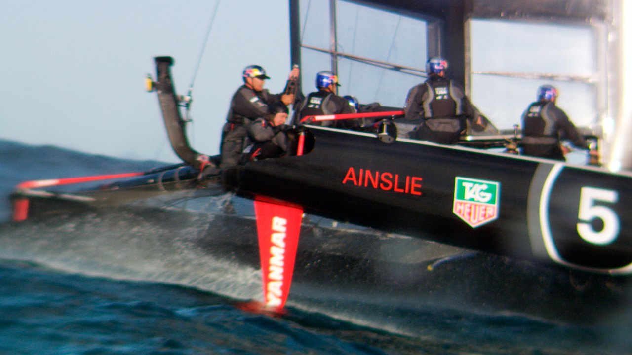 Team Oracle sailing in New Zealand