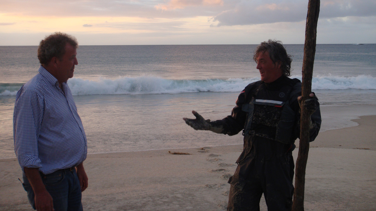 Jeremy Clarkson and James May in New Zealand