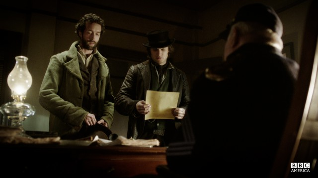 Detective Corcoran accompanies Brogan McGrath to the recruitment office.