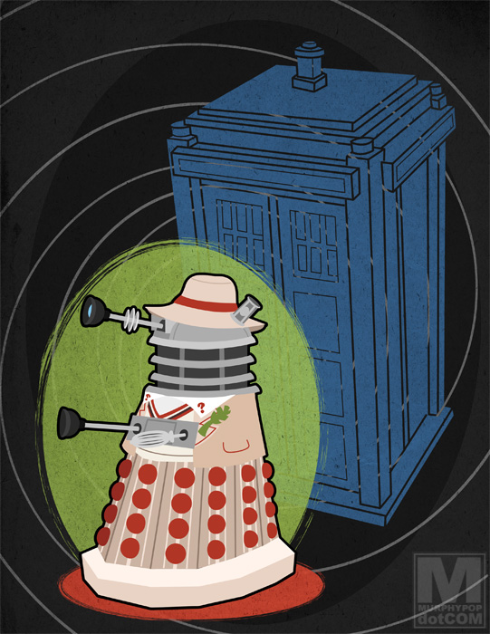 The Fifth Doctor Dalek by Megan Murphy