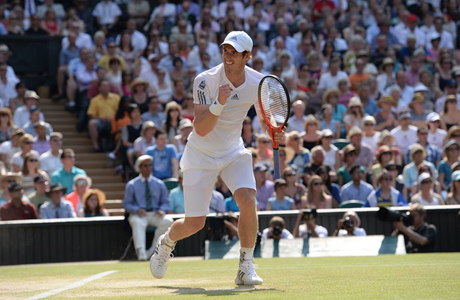 Andy Murray in the Wimbledon's men's singles final (Photo via Wimbeldon)