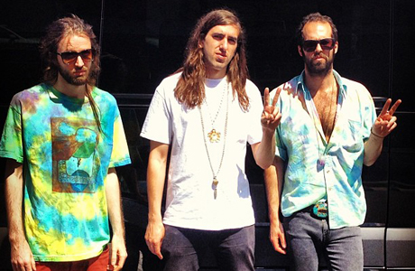 Sebastian Pringle, Gilbert Vierich and Graham Dickson of Crystal Fighters. (Photo via Crystal Fighters Facebook page)