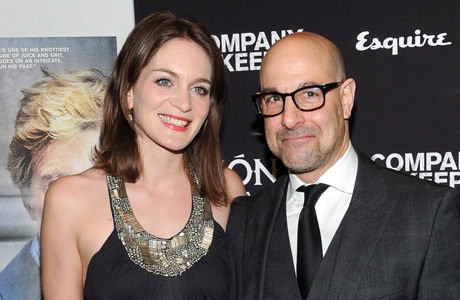 Felicity Blunt and her husband, actor Stanley Tucci, at 'The Company You Keep' premiere earlier this year. (Photo: Evan Agostini/Invision/AP)