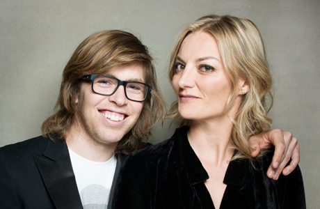 Snowboarder Kevin Pearce (left) and filmmaker Lucy Walker. (Photo: Victoria Will/Invision/AP Images)