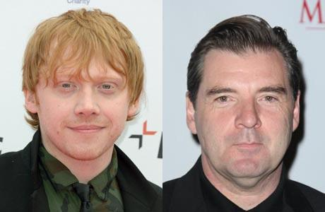 Rupert Grint makes his stage debut opposite Brendan Coyle. (AP)