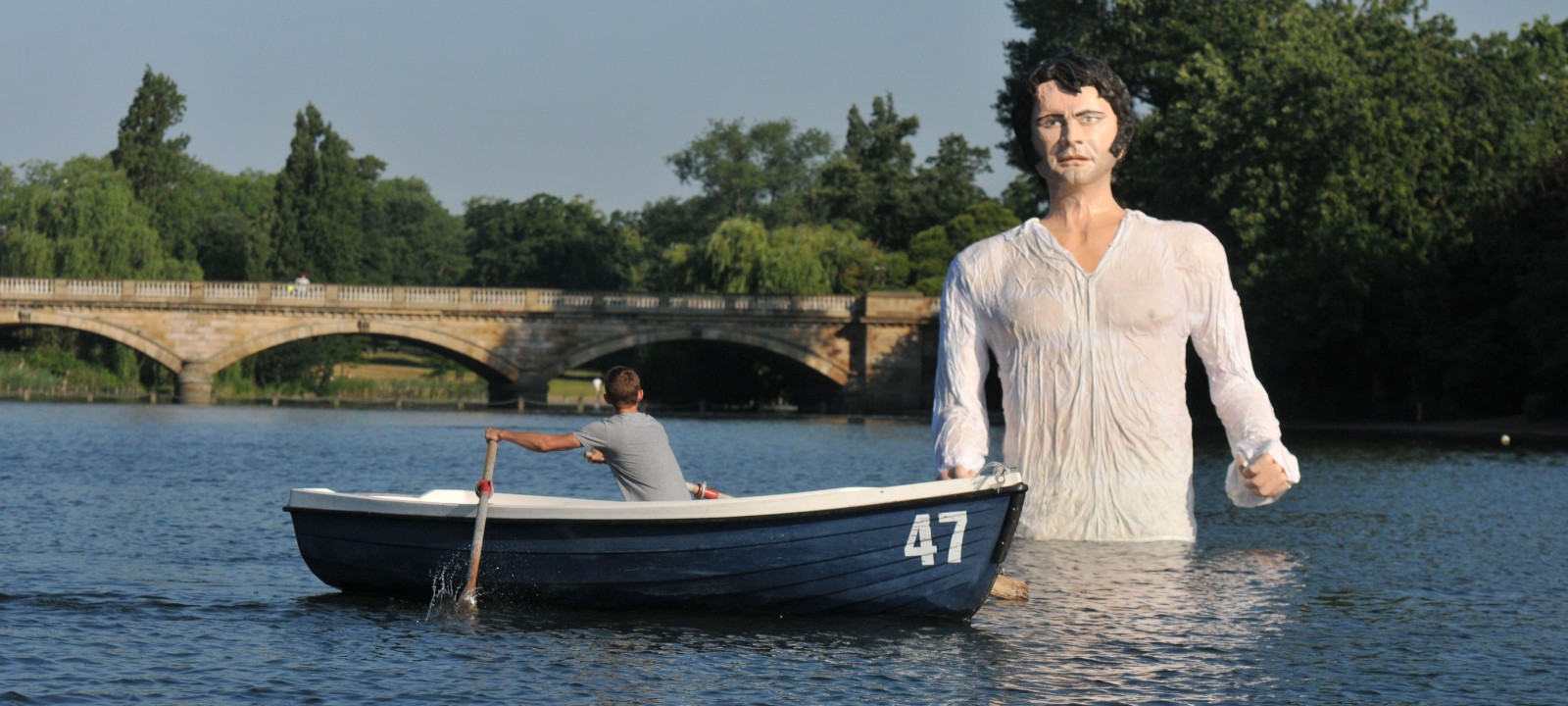 A giant sculpture of Mr Darcy unveiled in The Serpentine, London, Britain – 08 Jul 2013