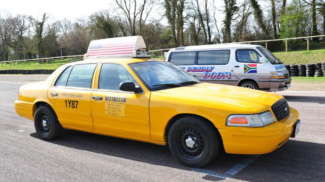 New York's Ford Crown Vic cab at Lydden Hill Race track