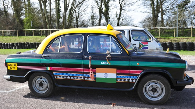 Indian Hindustan Ambassador taxi at Lydden Hill Race track