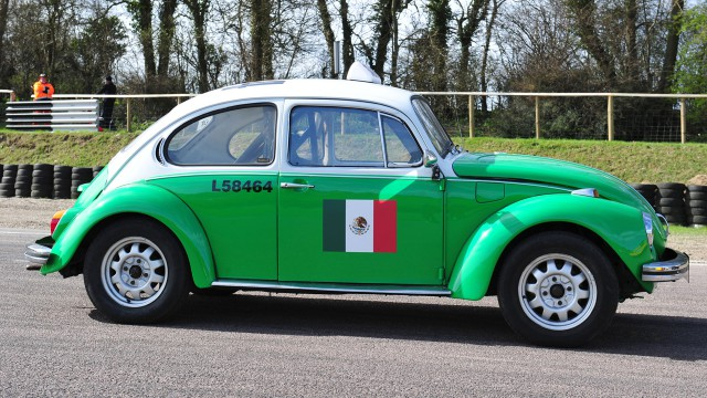 Mexican Volkswagen Beetle taxi at Lydden Hill Race track