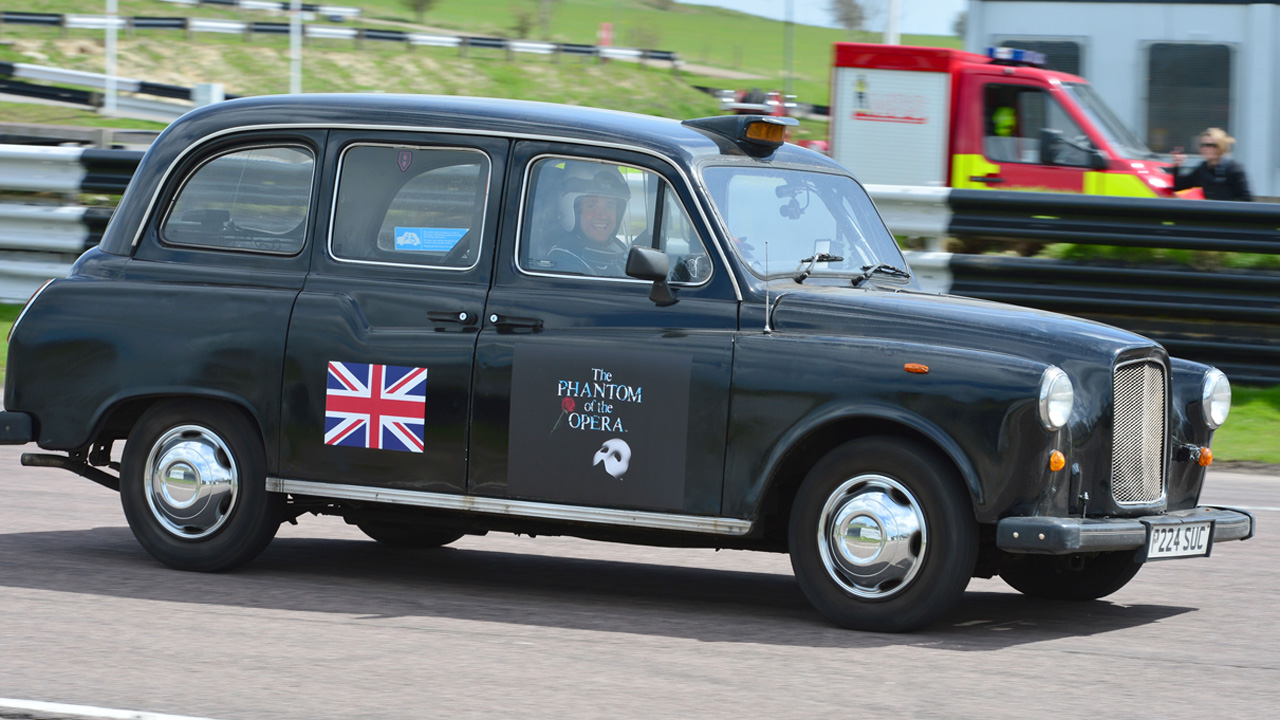 London Black Cab racing at Lydden Hill Race track