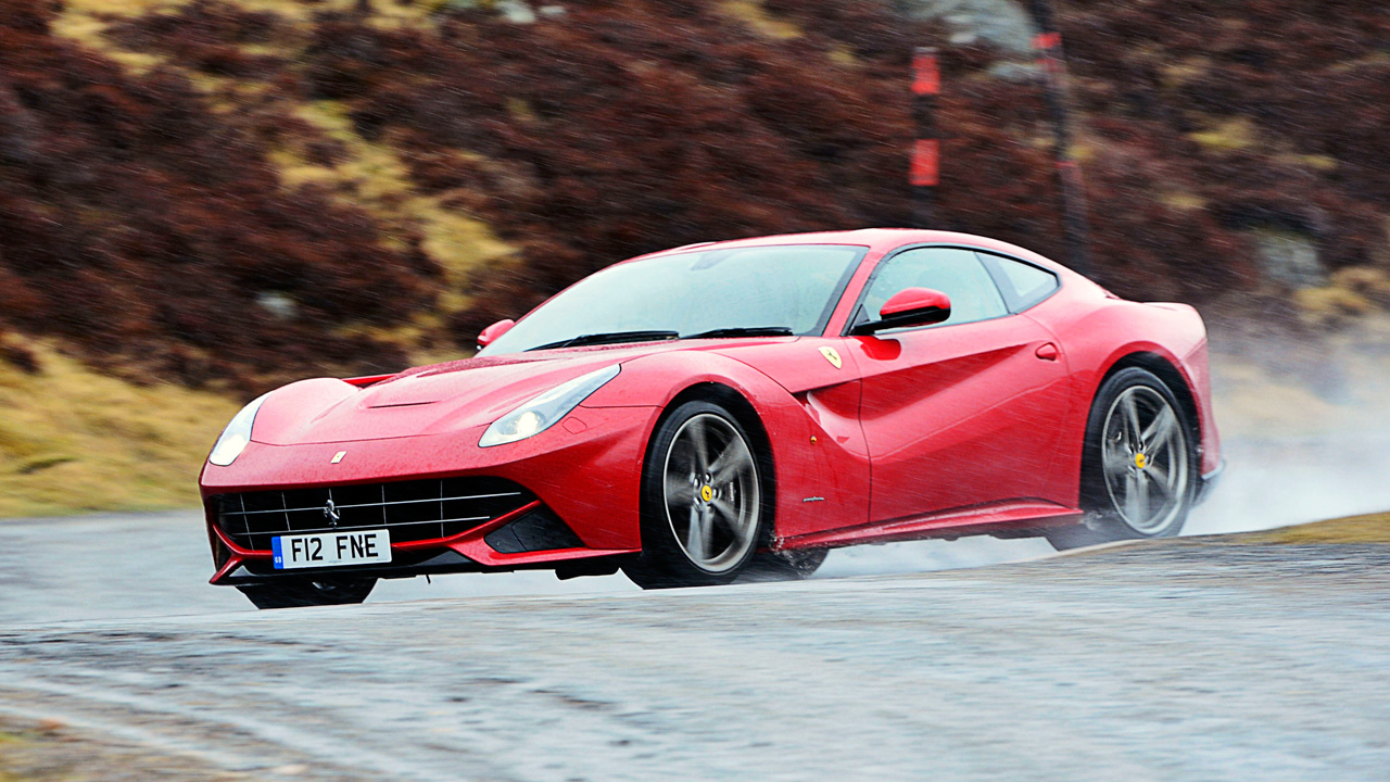 Ferarri F12 in Scotland