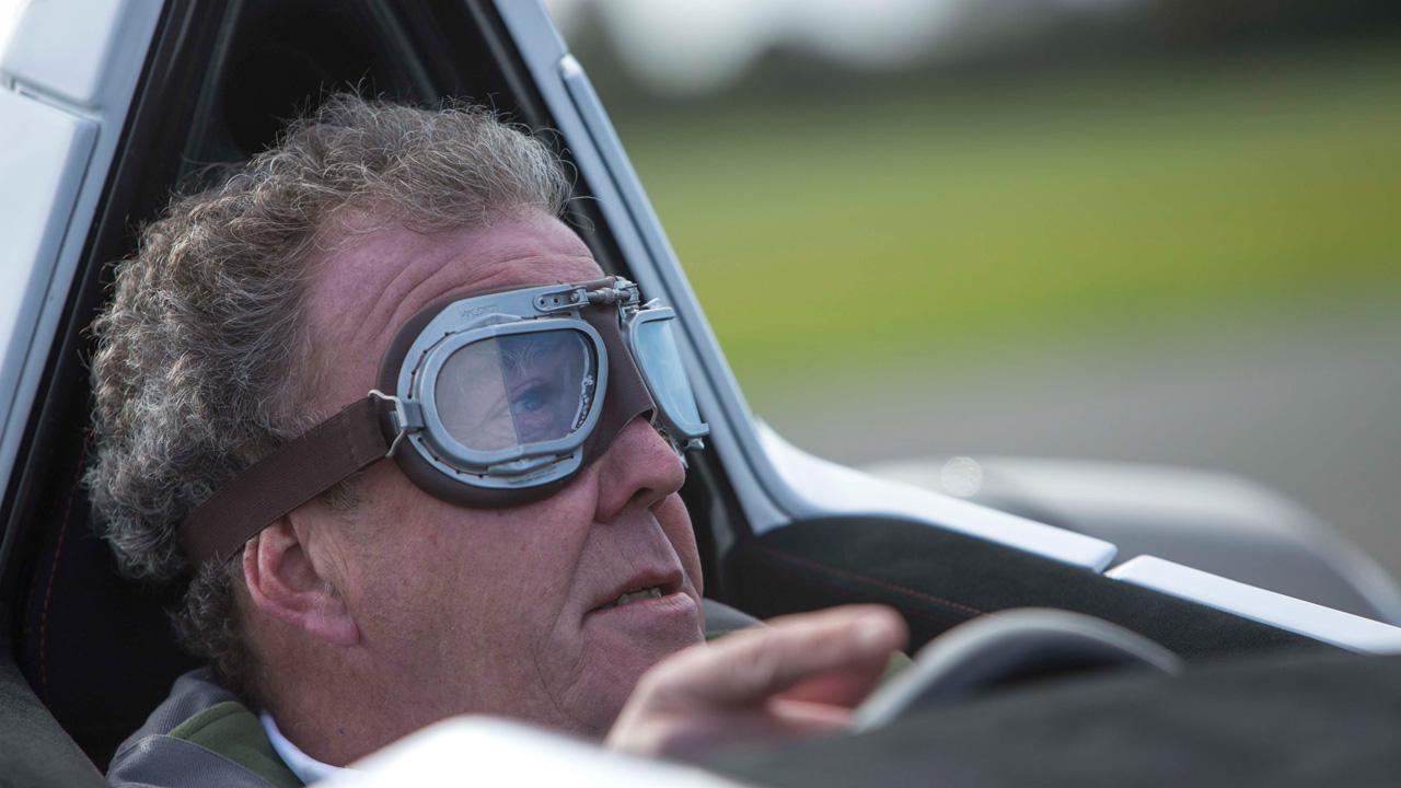 Jeremy Clarkson in the BAC Mono on the Top Gear Test Track