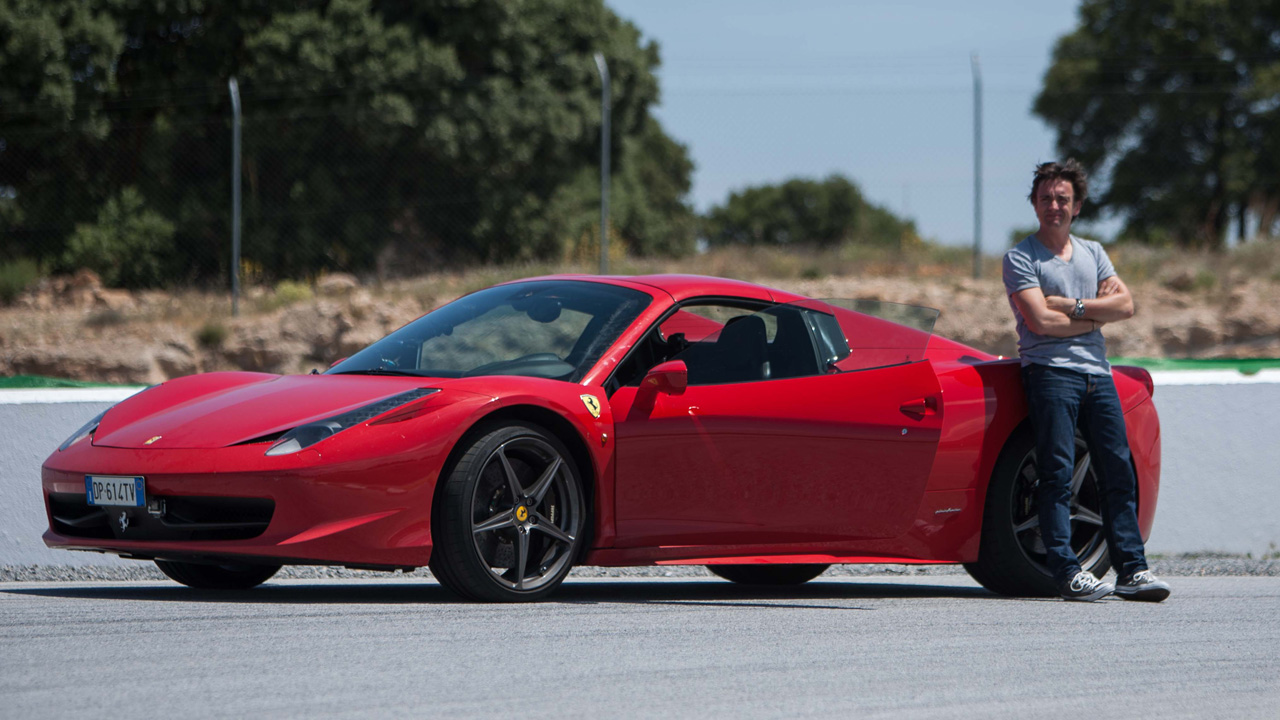 Richard Hammon with the Ferrari 458 Spider on the Guadix Circuit in Spain