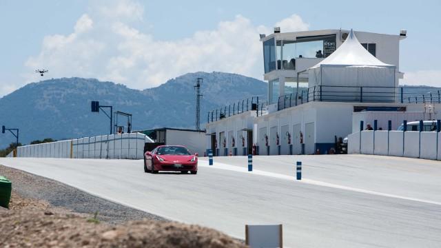 Ferrari 458 Spider on the Guadix Circuit in Spain