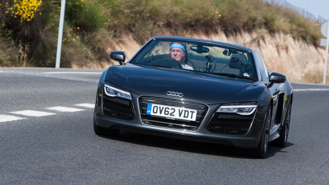 James May driving the Audi R8 Spyder