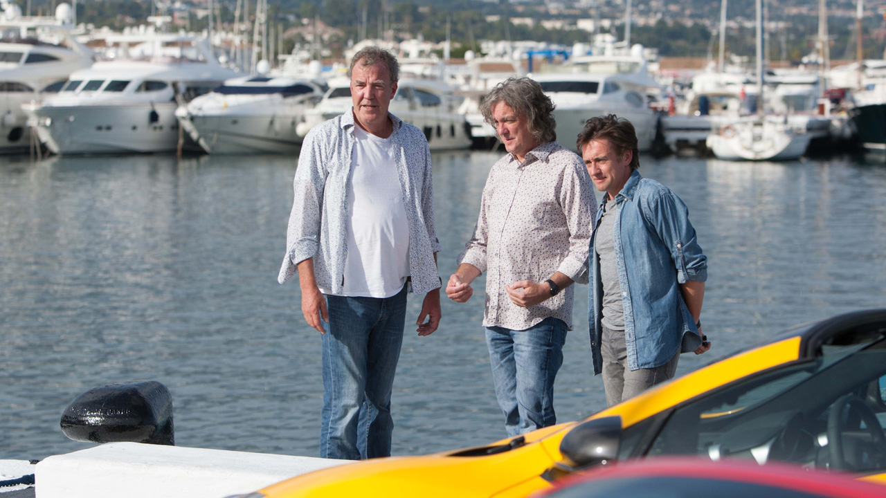 Jeremy Clarkson, James May and Richard Hammond in Puerto Banus