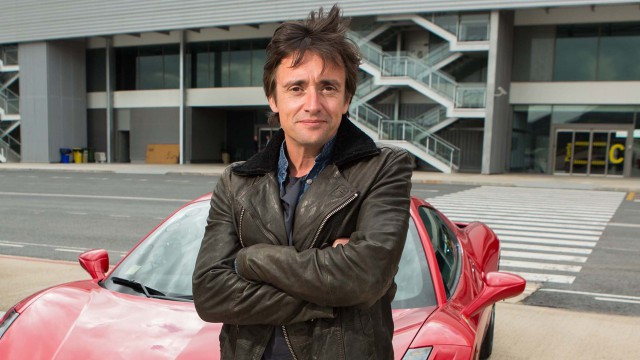 Richard Hammond and Ferrari 458 Spider at a deserted airport in Spain