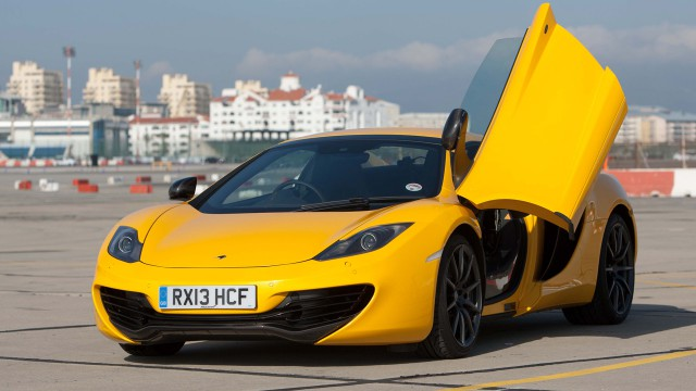 McClaren MP4-12C Spider on a deserted runway in Spain