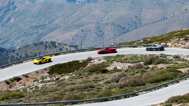 McLaren MP4-12C Spider, Ferrari 458 Spider and Audi R8 Spyder in Spain