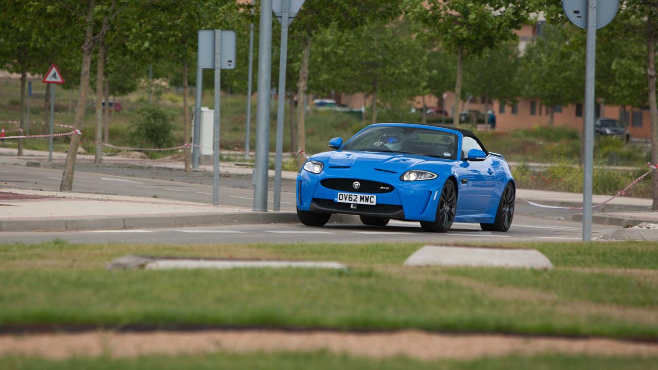 Jaguar XKRS on the street circuit in Valdeluz, Spain