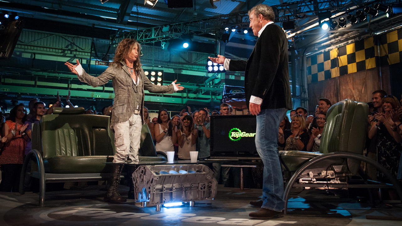 Special Guest Steven Tyler in the Top Gear studio