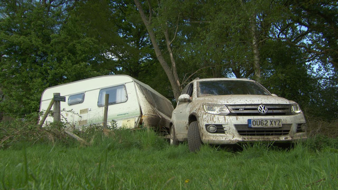 Volkswagen Tiguan towing a caravan