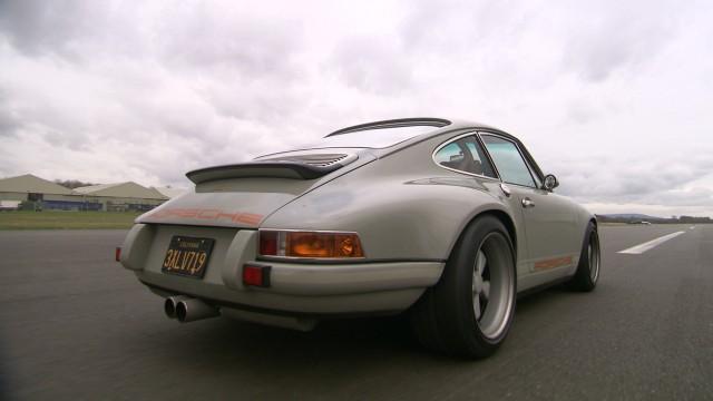 Porsche 911 driving around the Top Gear Test Track