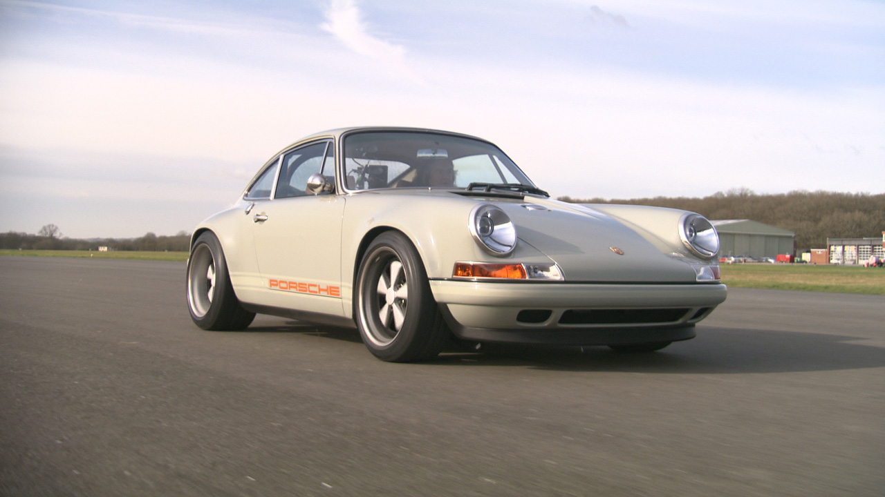 Porsche 911 on the Top Gear Test Track