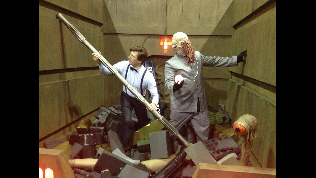 The Doctor was spotted along with an Ood in the Garbage Compacter upon the Death Star. - Paul B.