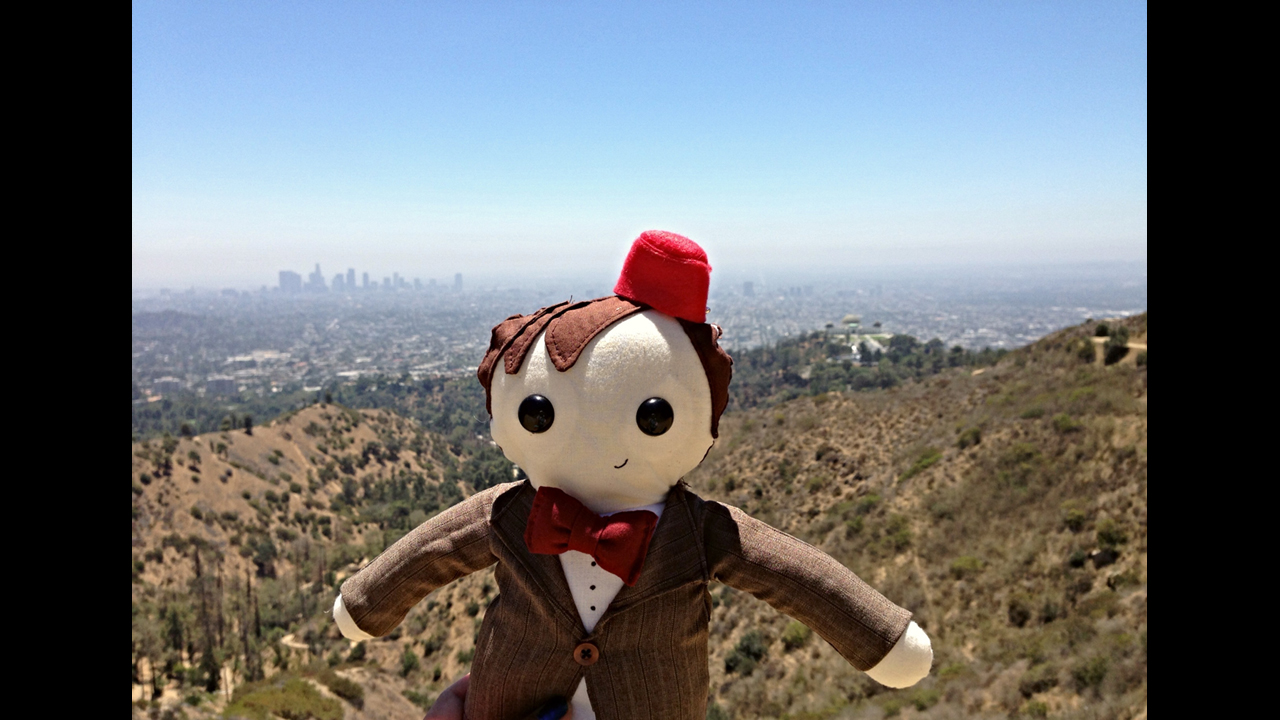 Enjoying the view of LA at one of Griffith Park's many trails. - Katy T. *Finalist*