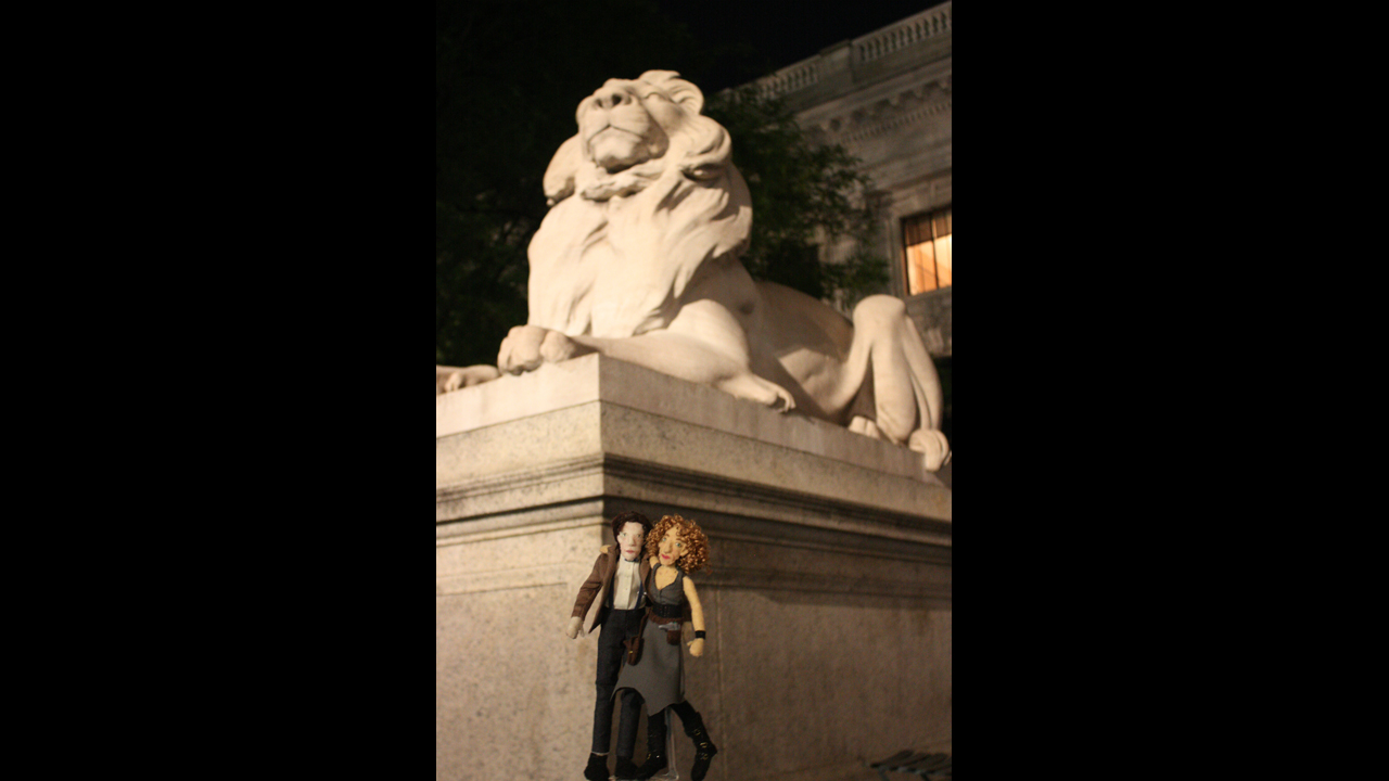 Bryant Park, in NYC. (The Doctor was trying to convince River they could really use a lion in the TARDIS...) - B. S.