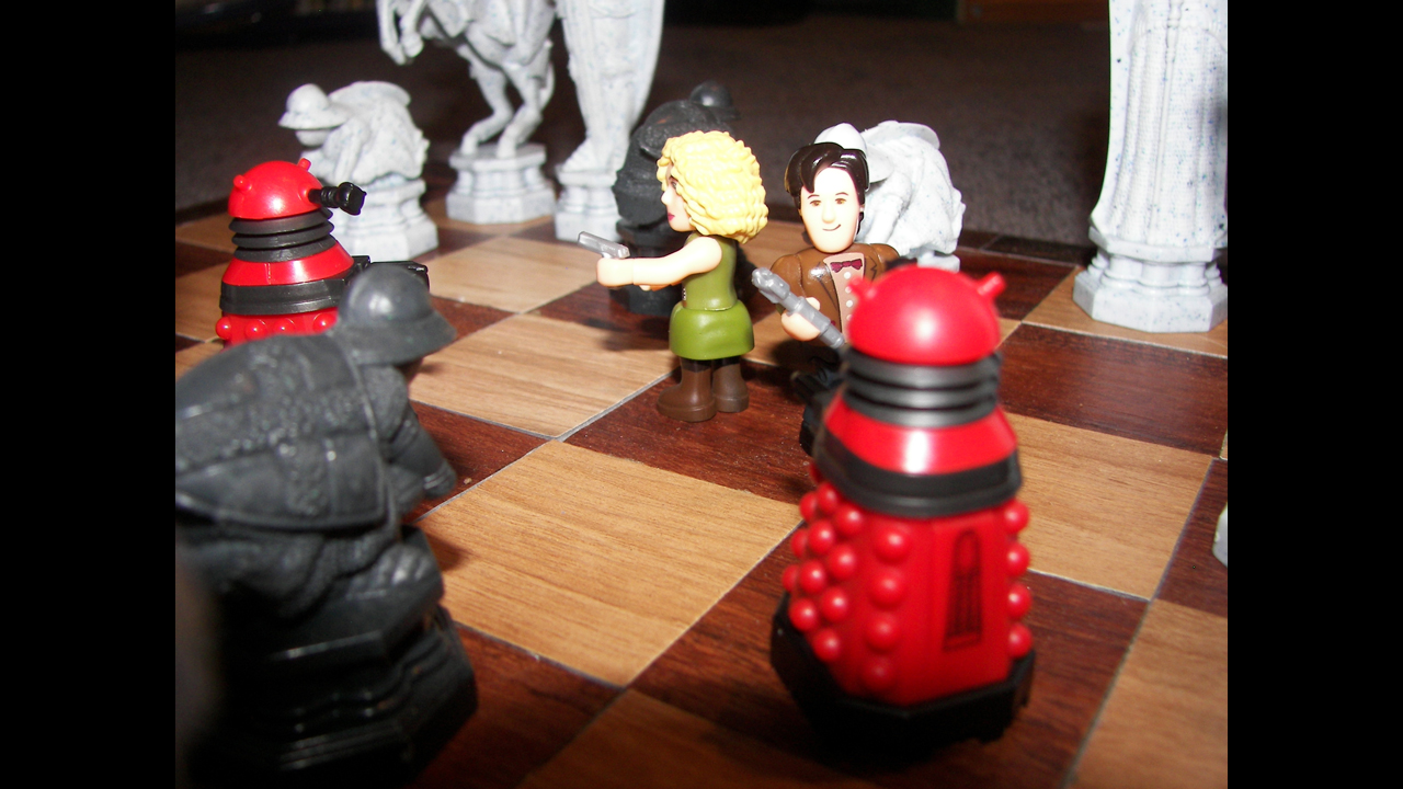 In a game of chess. - Bryon E.