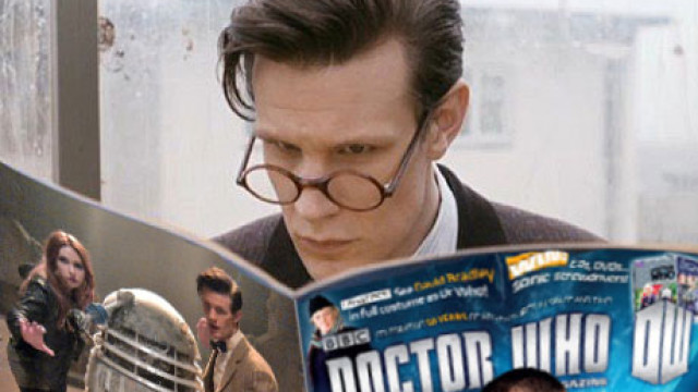 The Doctor reads Doctor Who magazine