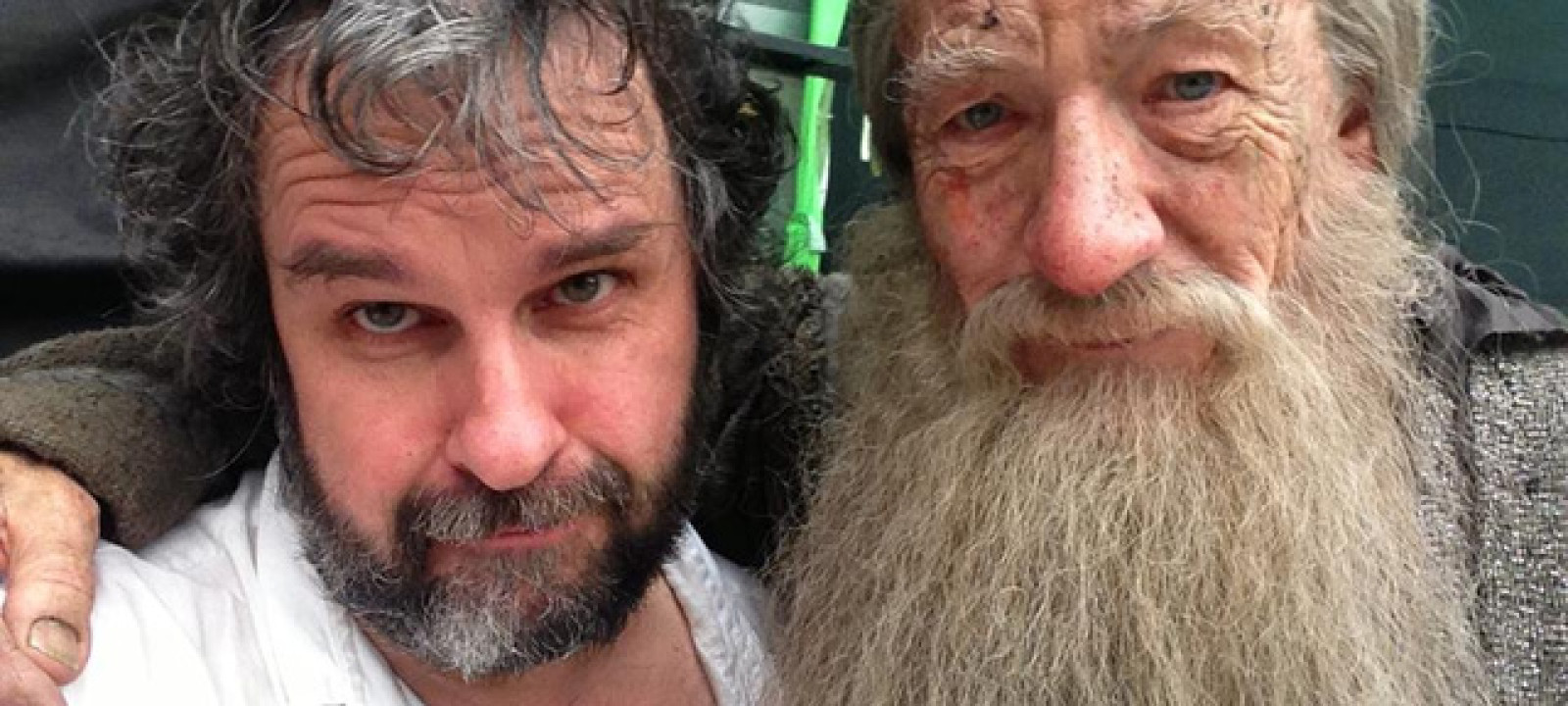 Peter Jackson and Sir Ian McKellen