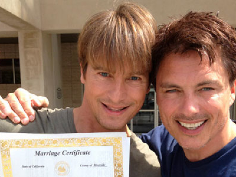 Mr and Mr John Barrowman and Scott Gill