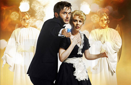 The Tenth Doctor (David Tennant) and Astrid Peth (Kylie Minogue) in 'Voyage of the Damned'