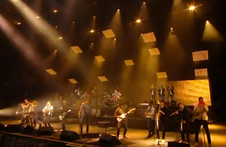 Mumford and Sons and friends at Glastonbury