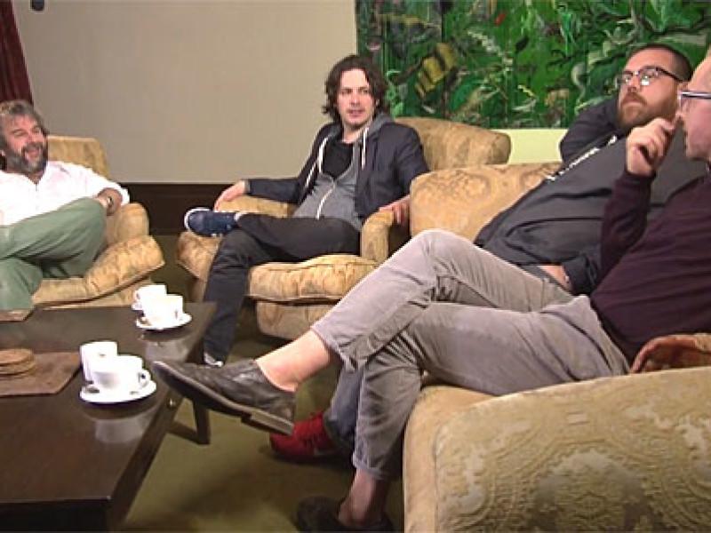 Peter Jackson, Edgar Wright, Nick Frost and Simon Pegg