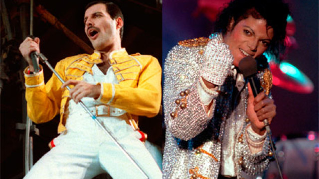 Freddie Mercury and Michael Jackson
