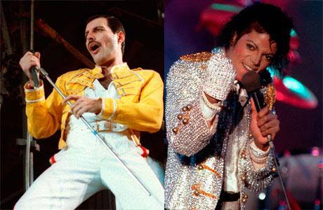Freddie Mercury and Michael Jackson (AP Images)