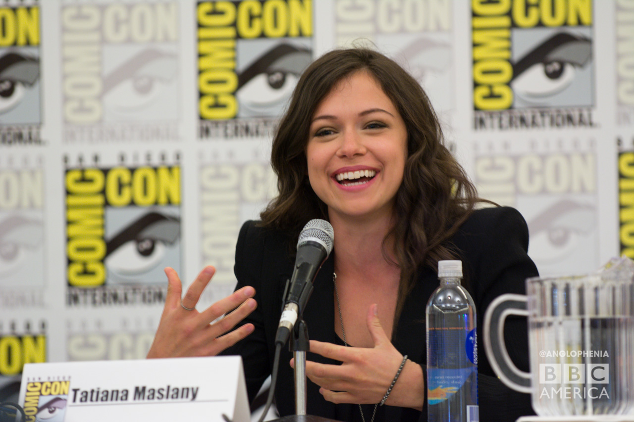 Tatiana Maslany at the 'Orphan Black' panel at San Diego Comic-Con (Photo: Dave Gustav Anderson)