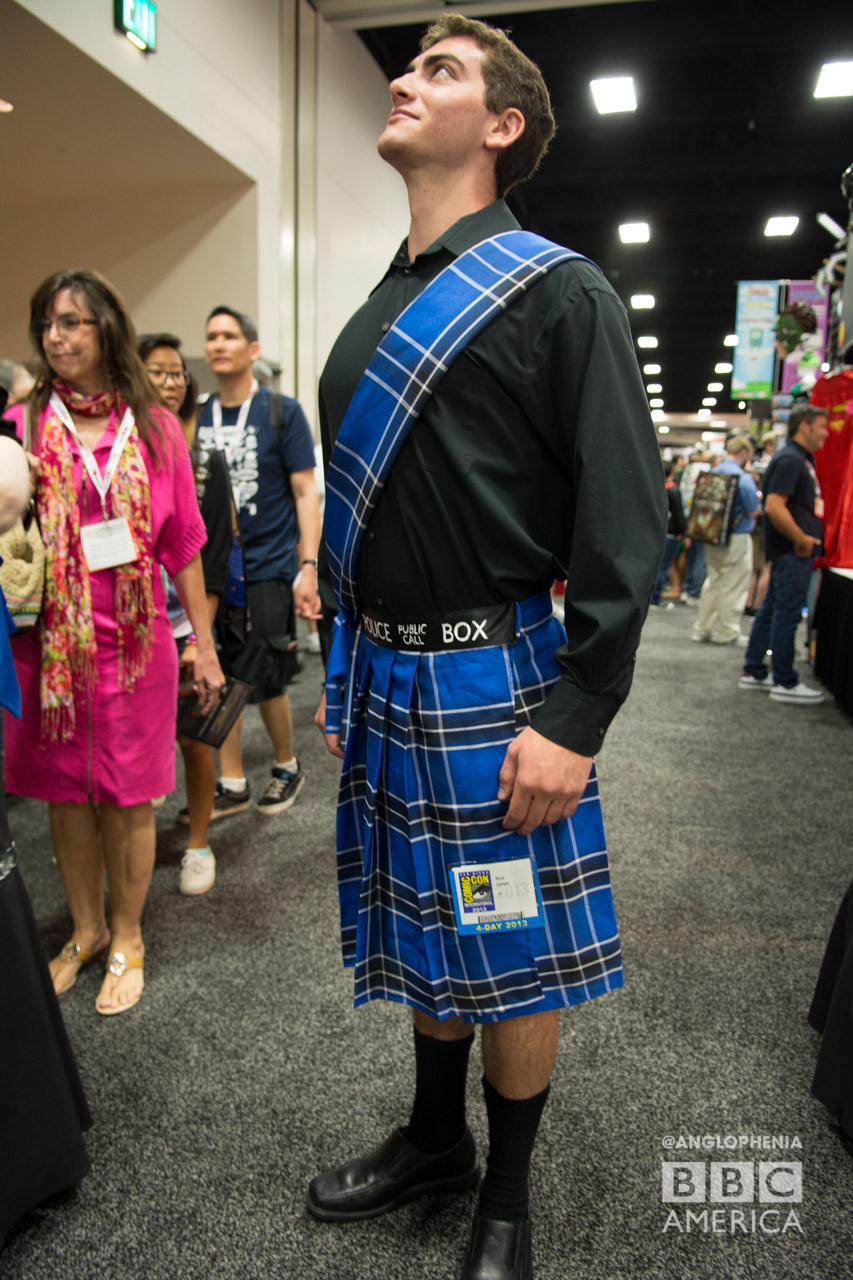 If only we had a TARDIS kilt, we could hold our heads up high too. (Photo: Dave Gustav Anderson)