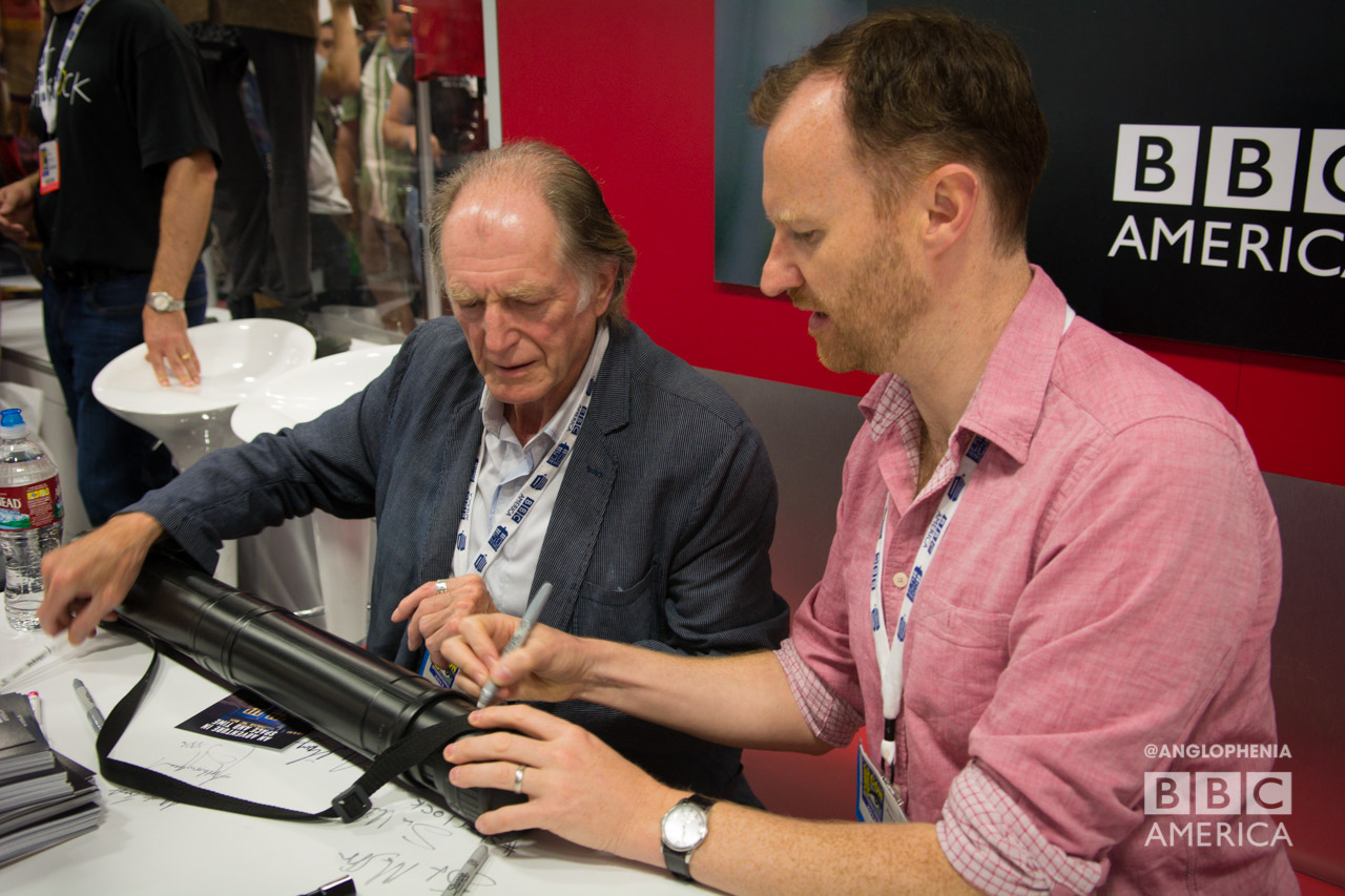 David Bradley (left) and Mark Gatiss. (Photo: Dave Gustav Anderson)