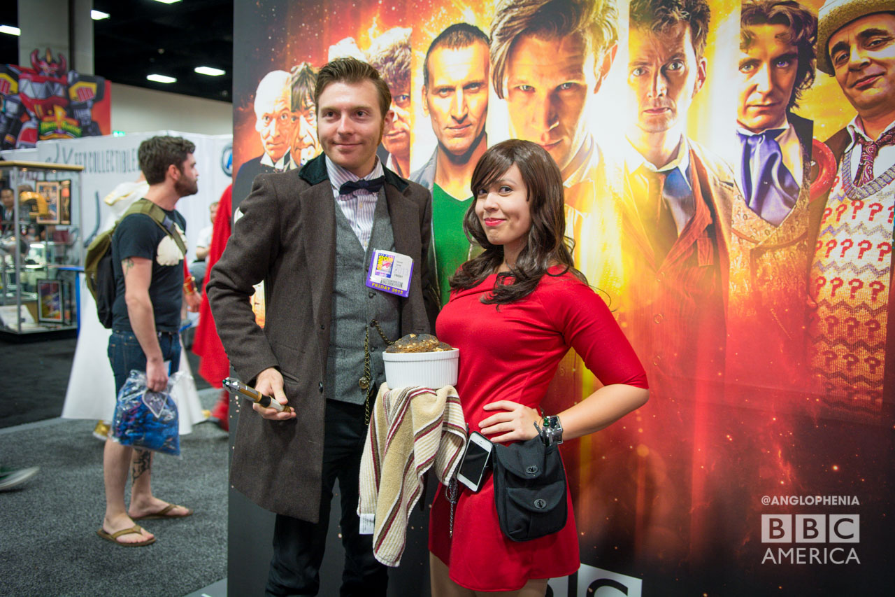 The Eleventh Doctor and Clara cosplay. (Photo: Dave Gustav Anderson)