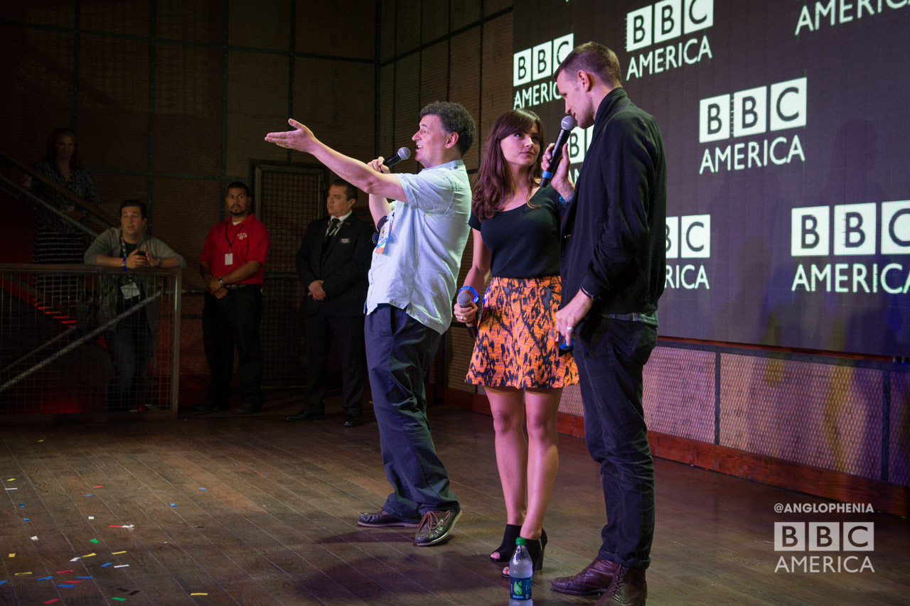 Steven Moffat, Jenna Coleman, and Matt Smith (Photo: Dave Gustav Anderson)