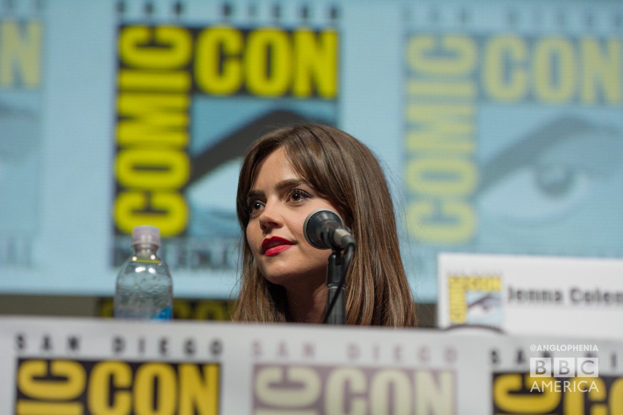 Jenna Coleman at the 'Doctor Who' 50th anniversary panel at San Diego Comic-Con. (Photo: Dave Gustav Anderson)