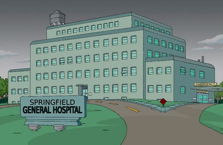 Springfield General Hospital from 'The Simpsons' (Photo via Simpsons Wiki)